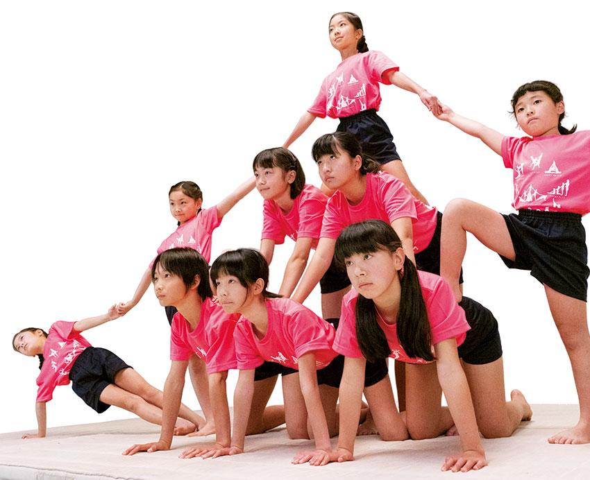 組体操技「扇」