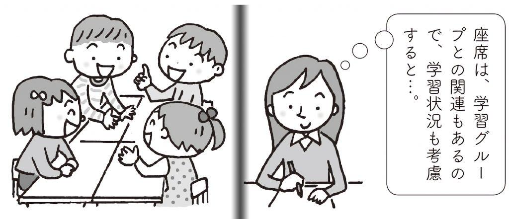 学習グループとの関連から席順を考える先生