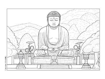 鎌倉 大仏 イラスト