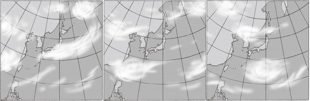 インターネットの雲画像を時系列でつなぎました