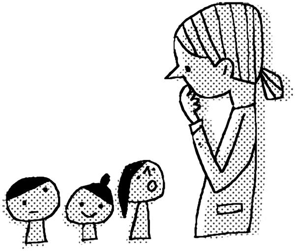 先生と生徒会話のイメージ