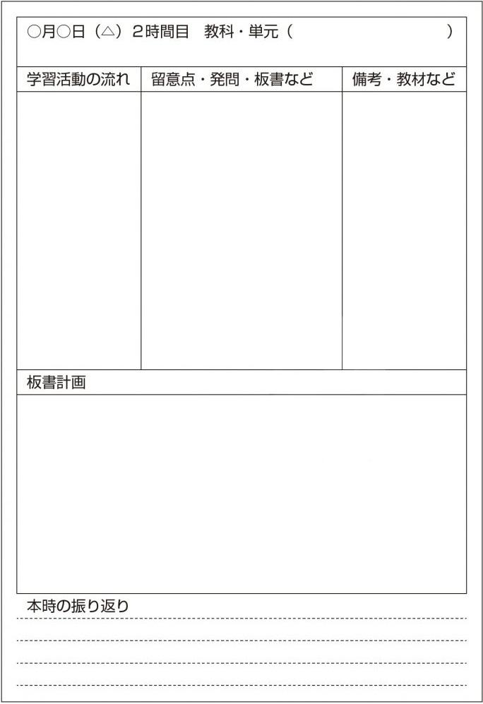 授業計画の例