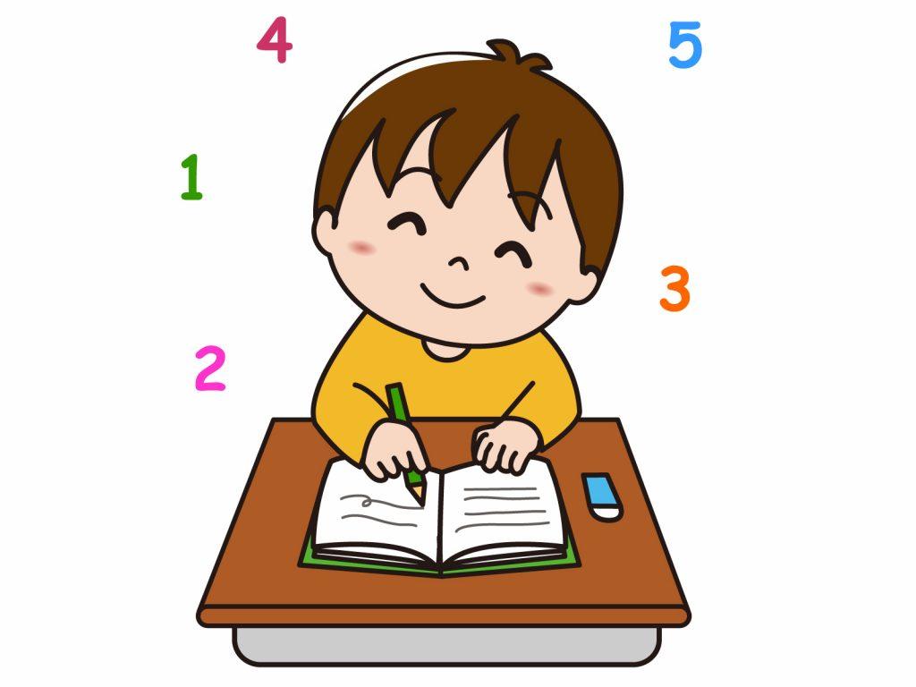 算数を解いている子どものイメージ