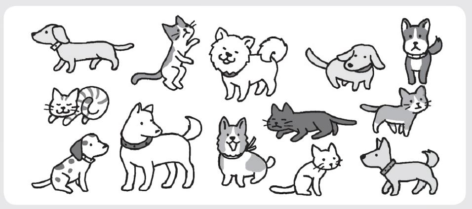 犬はネコより何匹多いでしょうか?