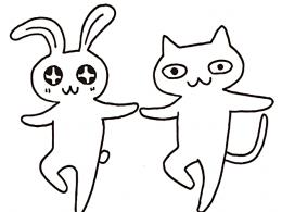 擬人化した動物のイラスト
