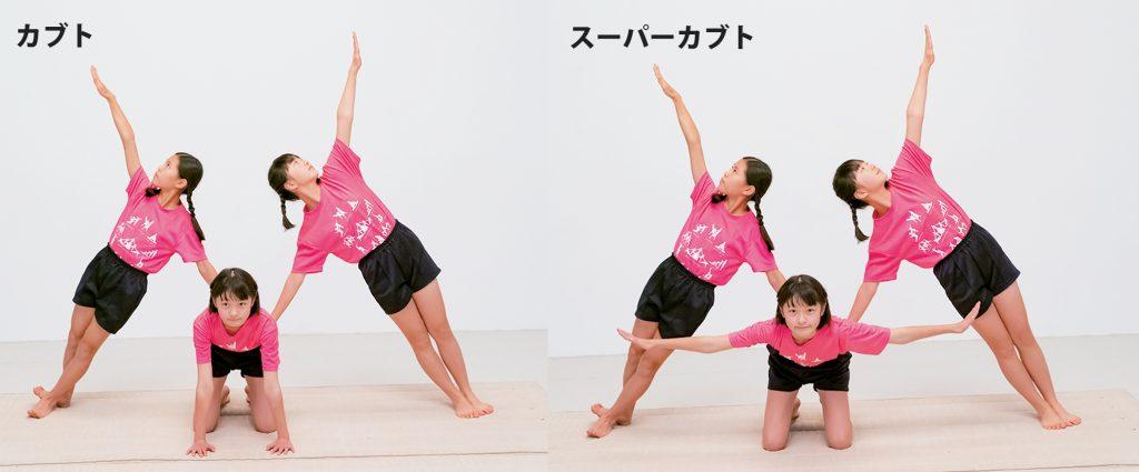 組み体操の3人技、カブトとスーパーカブト