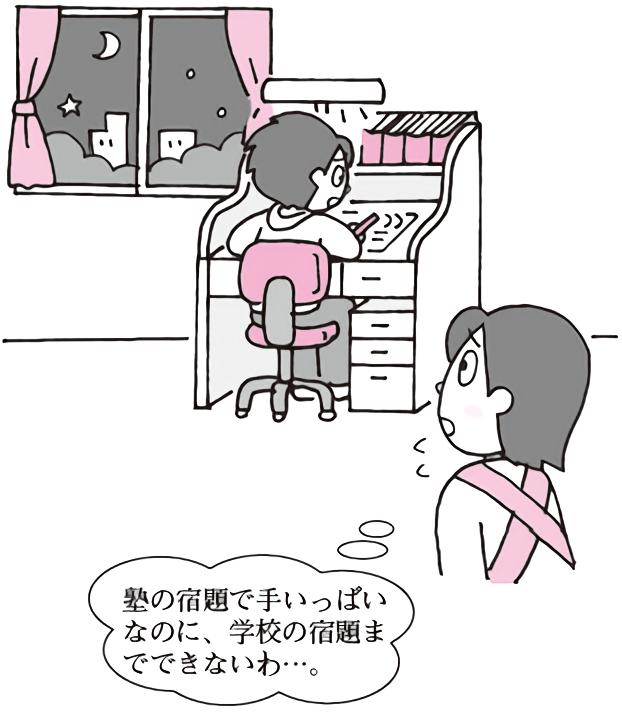 塾に通う子の宿題