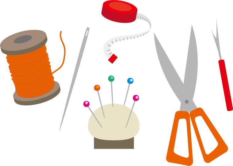 家庭科の道具のイメージ