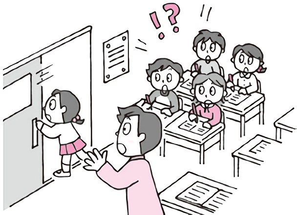 一部の子の指導で授業が遅れる