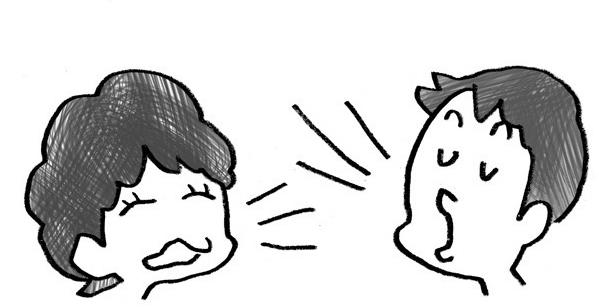 声に表情を付けて音読する子2人の子