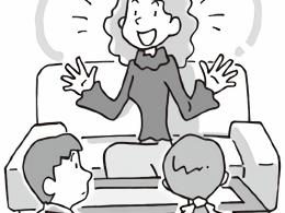 話をする保護者と、それに対応する教師