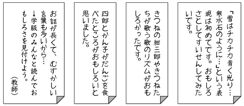 子供のノート例4つ