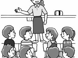 先生から夏の体験を話す