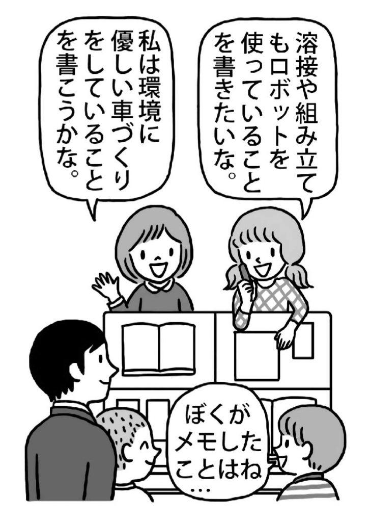 授業のまとめ新聞 話し合い