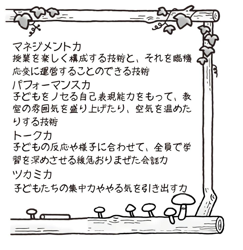 マネジメント力・パフォーマンス力・トーク力・ツカミ力