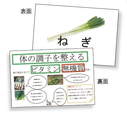 献立学習で使用した食品カード