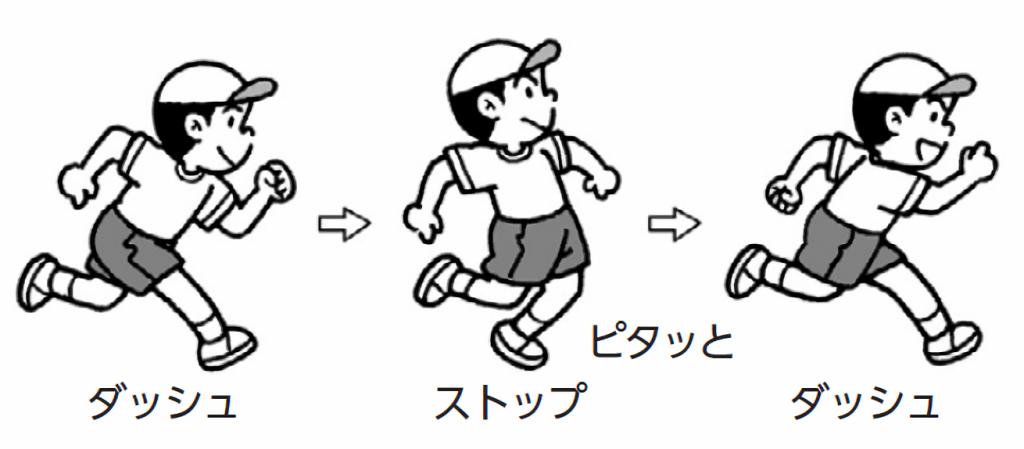 走るスピードを変える