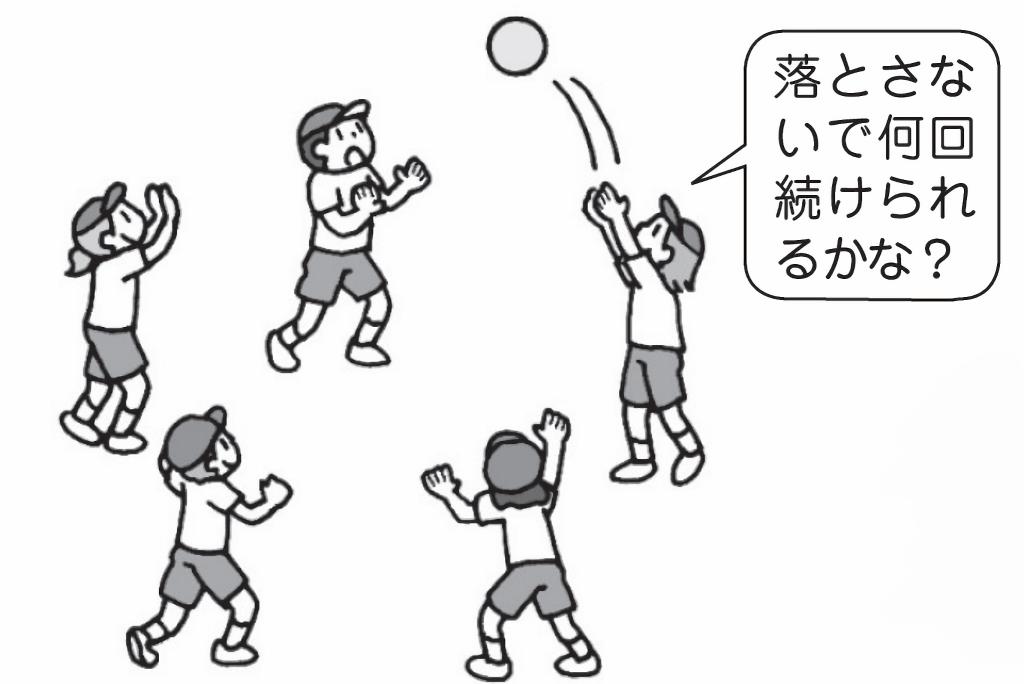 円陣パス・キャッチ