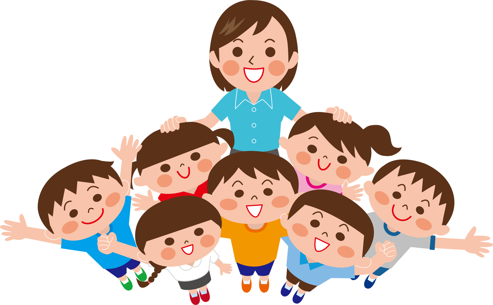 教育実習生と子どもたち