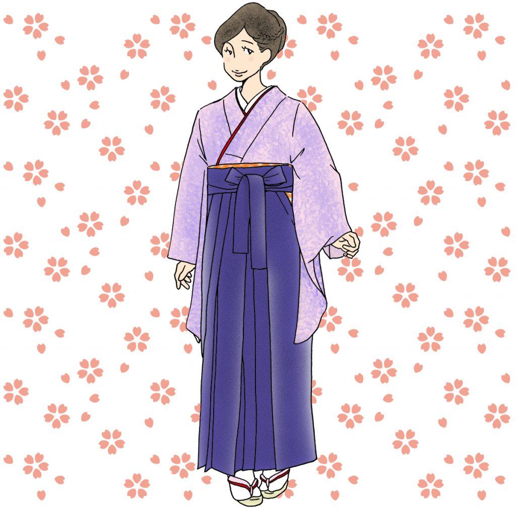 袴を着た先生