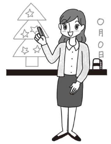 双子の画家ゲームは先生が黒板にイラストを描くところから始まる