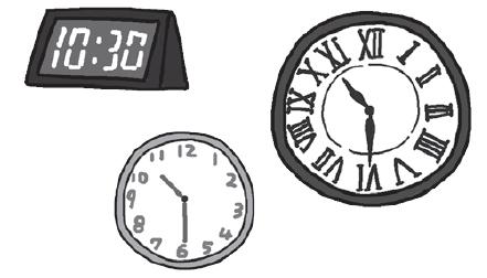 デジタルや12進法の時計など