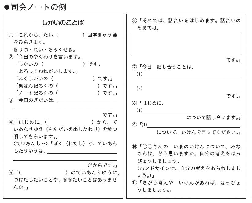 司会ノートの例1