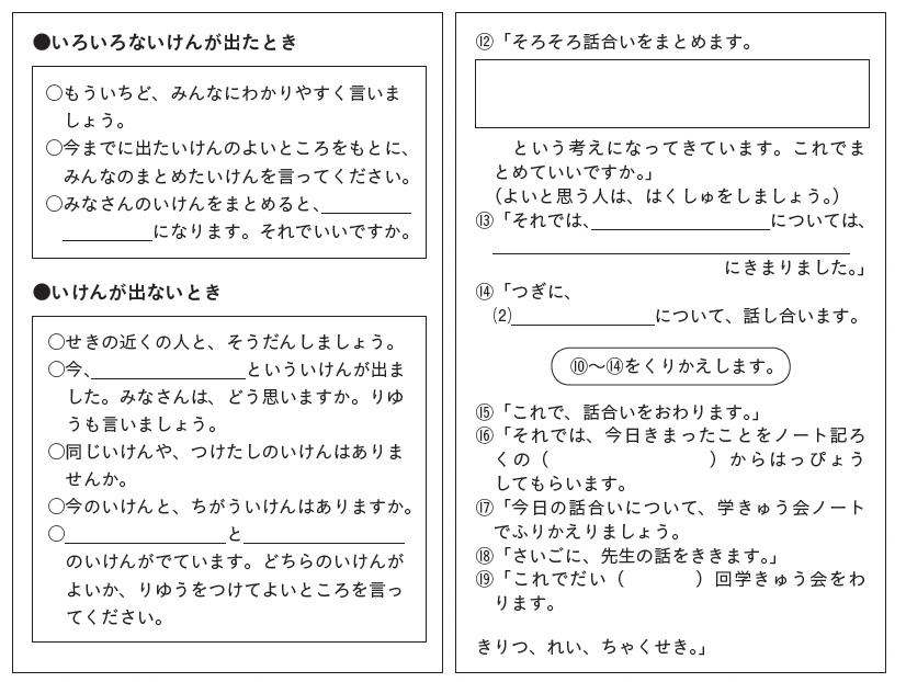 司会ノートの例2