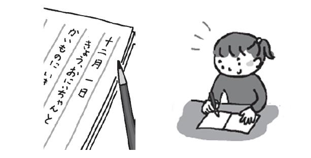 手紙を書くイメージイラスト