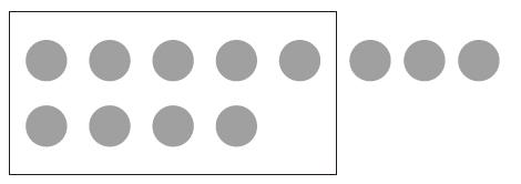 9個のおまんじゅうが入った10個入りの箱の外に3個おまんじゅうが置いてある