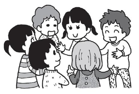 子供たちが話合いを行うイメージ