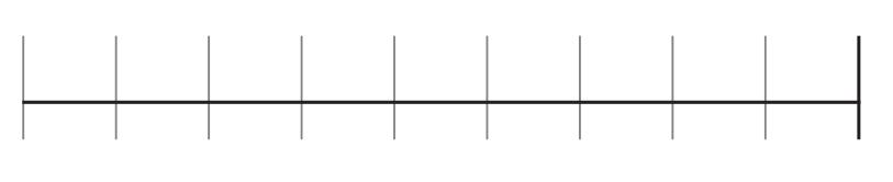 右から左へ1本横線を引く