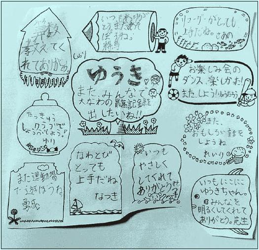 「クラス全員からのメッセージ」画像