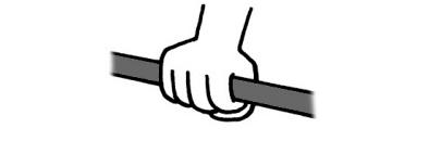 鉄棒の握り方|上から握る時