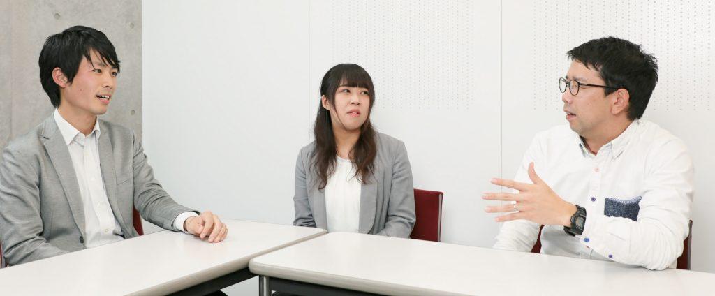 高知尾梓先生(左)、川崎真理先生(中)、 海老原司先生(右)