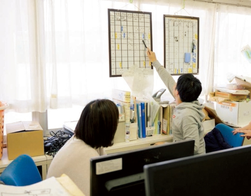 職員室の風景