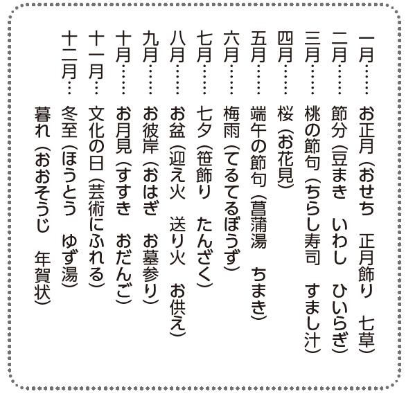 日本の伝統的な風習一覧