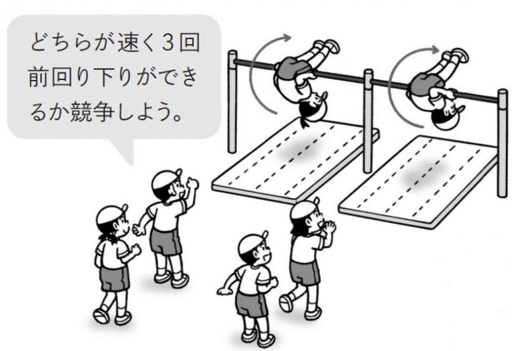 【くり返し技の例】 競争を楽しみながらくり返す