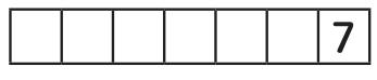 横に連なる7つのロッカーの一番右のマスに7と記された図