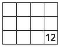 3×4に並べられた12個のロッカーの図