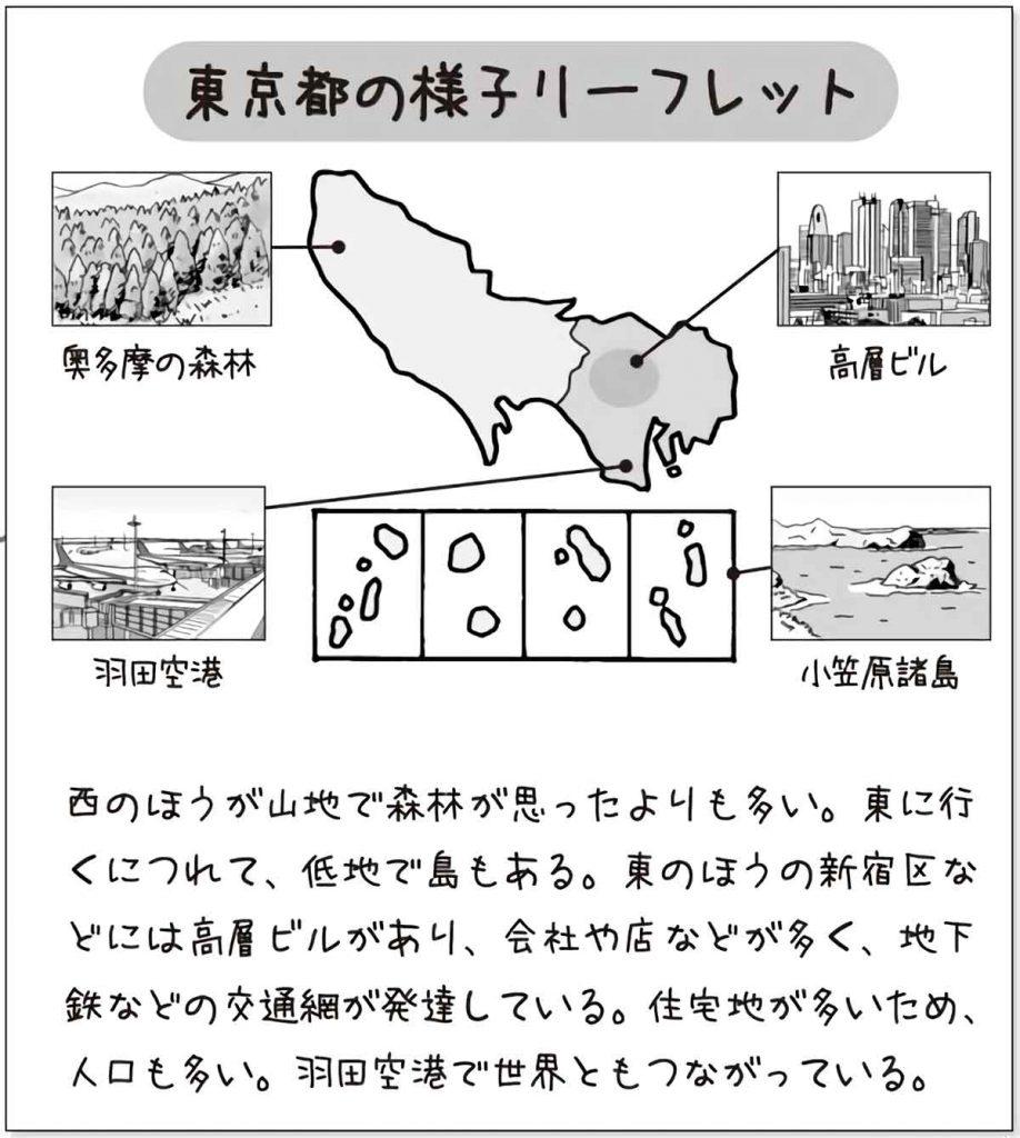東京都の様子リーフレット