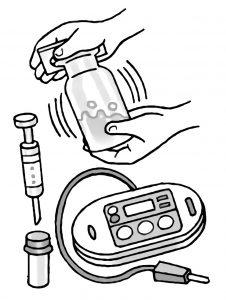 気体検知管や石灰水を用いて気体の変化を調べる
