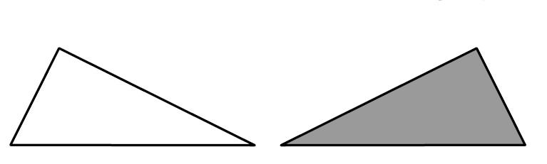 2枚の合同な三角形