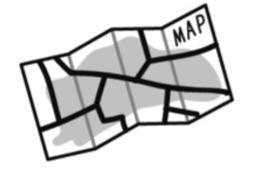 探検隊秘密マップのイラスト