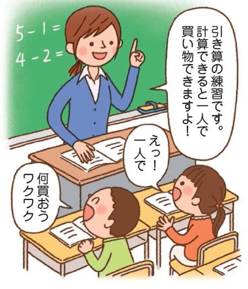 算数を学ぶことの楽しさを説明し、子どものワクワク感をかき立てます