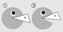 角の大きさ比較イラスト