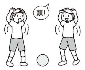 ボール踏みゲーム