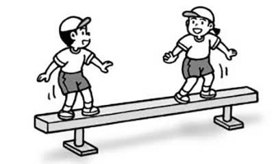 平均台歩き&ペア場所移動