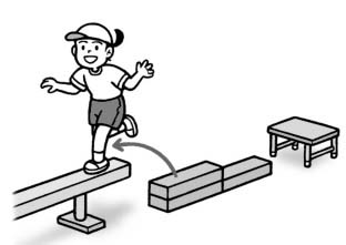 跳び渡り平均台