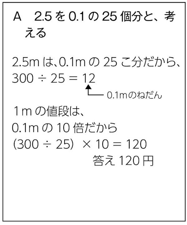 A 2.5を0.1の25個分と、考える